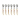 Sked, ljus horn, 6 skedar, Claude Dozorme Laguiole