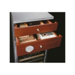 IP CI 302, vinskåp med cigarrlådor, rostfritt