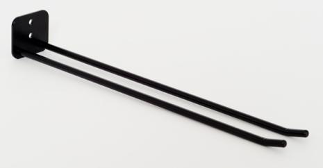 Glashängare, 25 cm, vägg, svart
