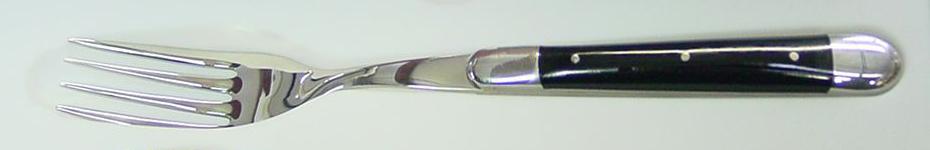 Gaffel med svart horn, 6 st, Forge de Laguiole