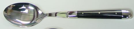 Matsked, svart horn, 6 st, Forge de Laguiole