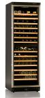 Vinkyl för 168 flaskor, dual, rostfri dörram