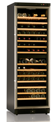 Vinkyl för 168 flaskor, rostfri dörram