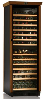 Vinkyl för 168 flaskor, med trädetaljer