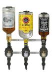 Flaskhållare för 3 fl, vägghängd (exkl dosörer)