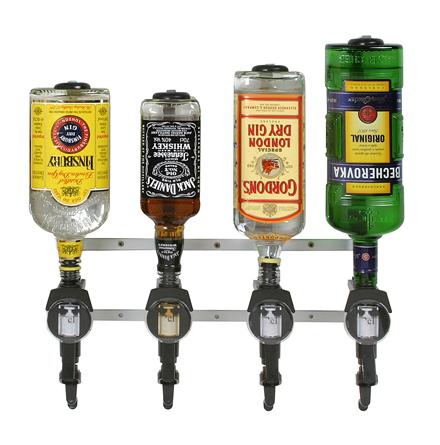 Flaskhållare för 4 fl, vägghängd (exkl dosörer)