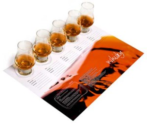 Provningsunderlägg, whisky, laminerade, 4 st