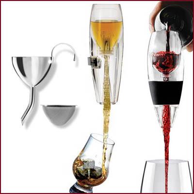 Vinluftare & dekanteringstrattar