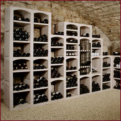 Vinmöbel Vinicase i betong