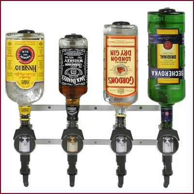 Flaskhållare och dosörer