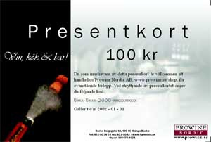 Presentkort 100 sek