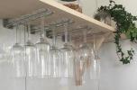 Glashängare, 25 cm, vägg, krom