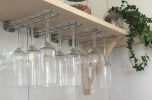 Glashängare, 30 cm, tak, krom