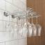 Glashängare, 30 cm, vägg, krom