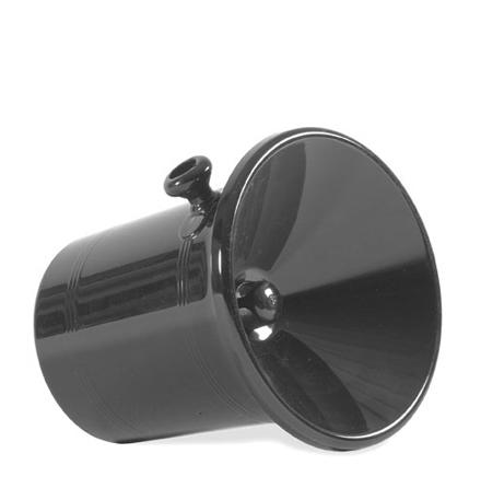 Spottkopp stor, svart plast, rymmer 2,5 liter