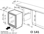 IP CI 141 CF, svart dörram