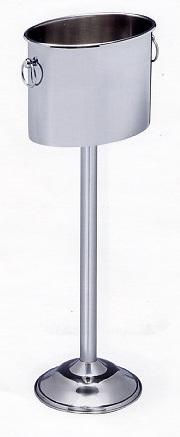 Ishink med golvstativ, rostfritt stål