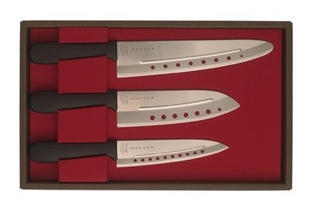 Novac presentförp, 3 knivar, plasthandtag