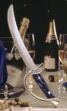 Sabrerings-sabel, blått handtag med försilvrad båge