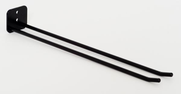 Glashängare, 30 cm, vägg, svart