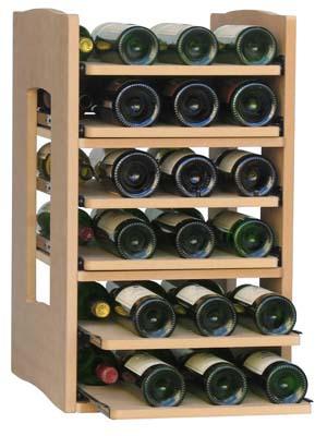 Utdragbar hylla för flaskor, 2 st
