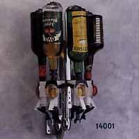 Flaskhållare, vägghängd, roterande